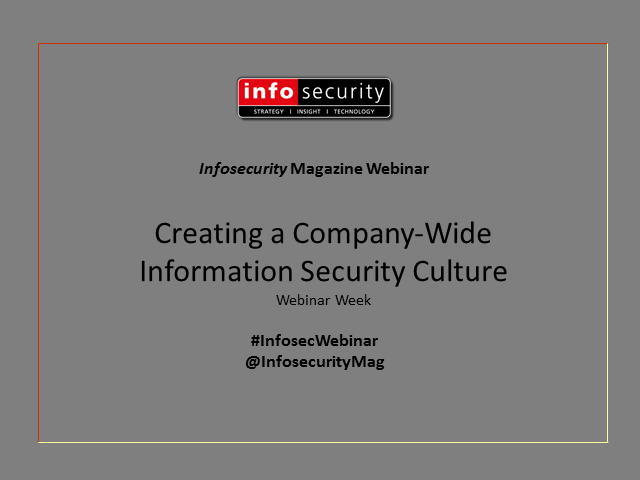 Creating a Company-Wide Information Security Culture