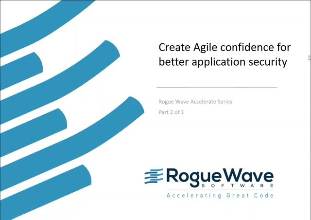 Create agile confidence for better application security