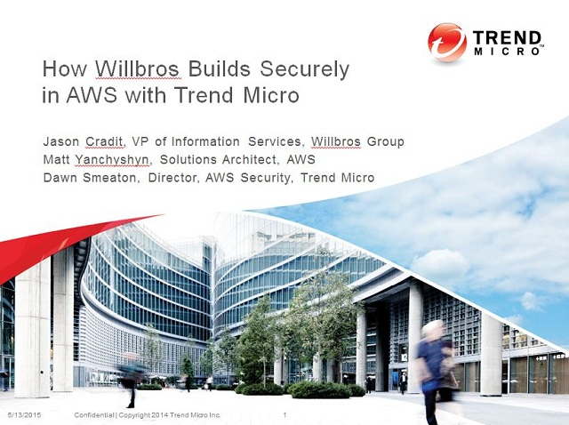 How Willbros Builds Securely in AWS with Trend Micro