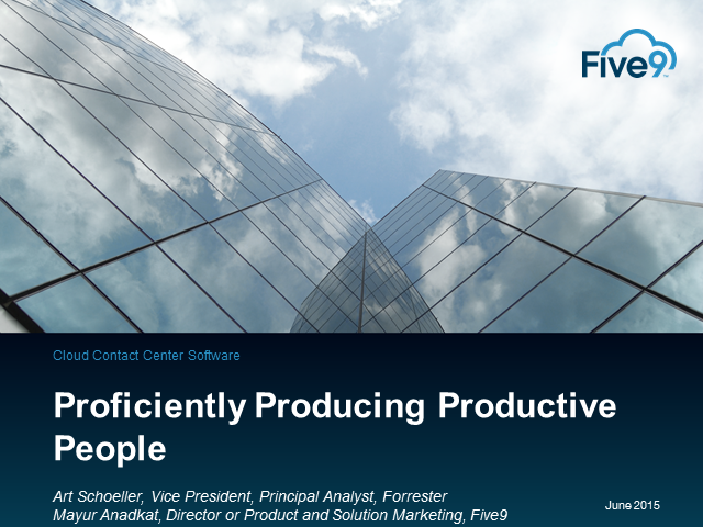 Forrester Webinar - Proficiently Producing Productive People