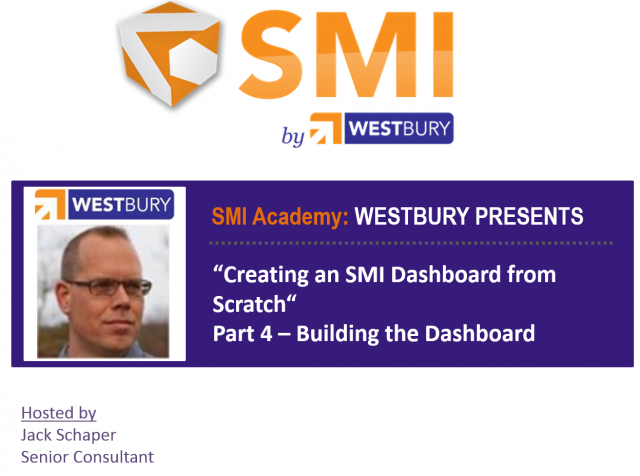 SMI Academy Dashboarding Pt. 4 - Building the Dashboard