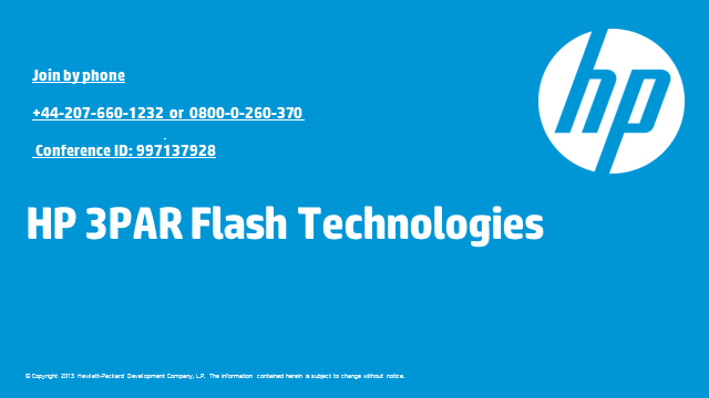 HP 3PAR Flash