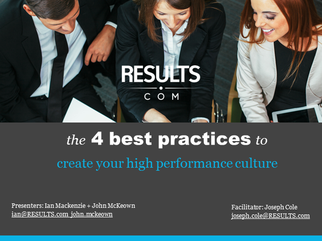 4 Best Practices for Creating a High Performance Culture