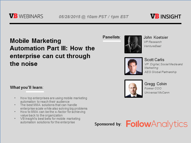 Mobile Marketing Automation Pt III: How the enterprise can cut through the noise