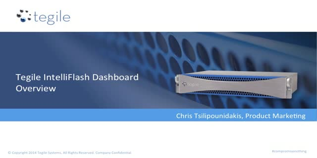 Tegile IntelliFlash Dashboard Overview