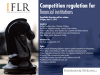 Competition regulation for financial institutions