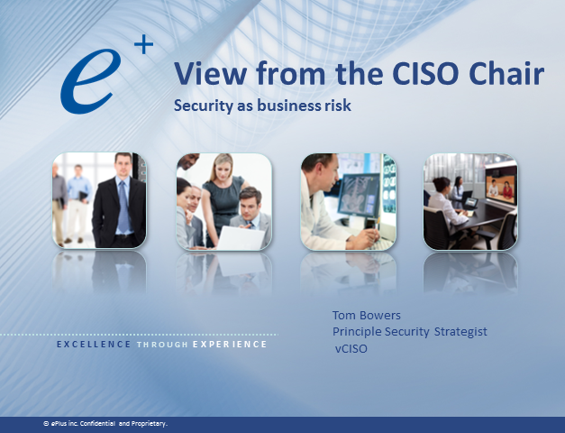 View from the CISO Chair