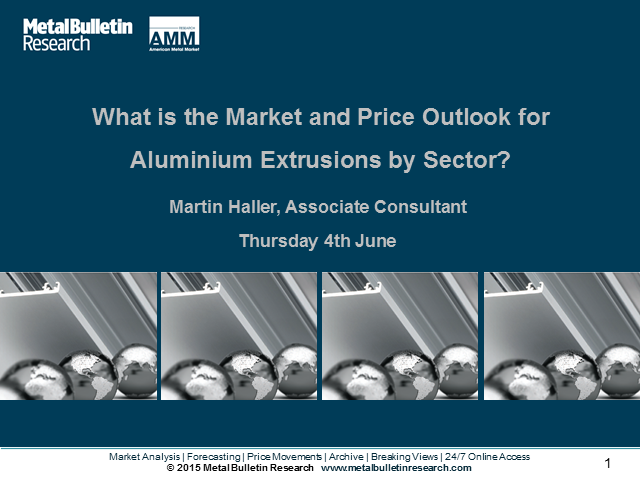What is the Market and Price Outlook for Aluminium Extrusions by Sector?