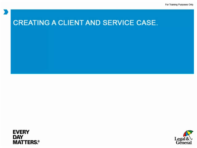 Intelligent Office - Creating a client and service case