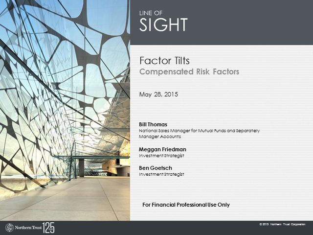 Factor Tilts: Compensated Risk Factors
