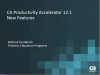 CA Productivity Accelerator 12.1 - New Features