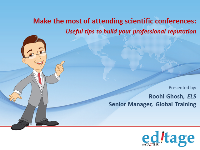 Make the most of attending scientific conferences