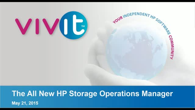 The all new HP Storage Operations Manager