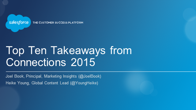 Top Ten Takeaways from Connections 2015