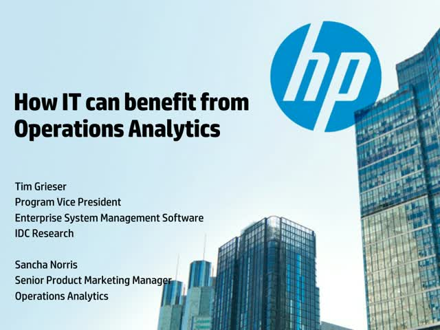 How you can benefit from IT Operations Analytics