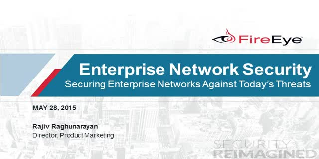 Securing Enterprise Networks against Advanced Attacks