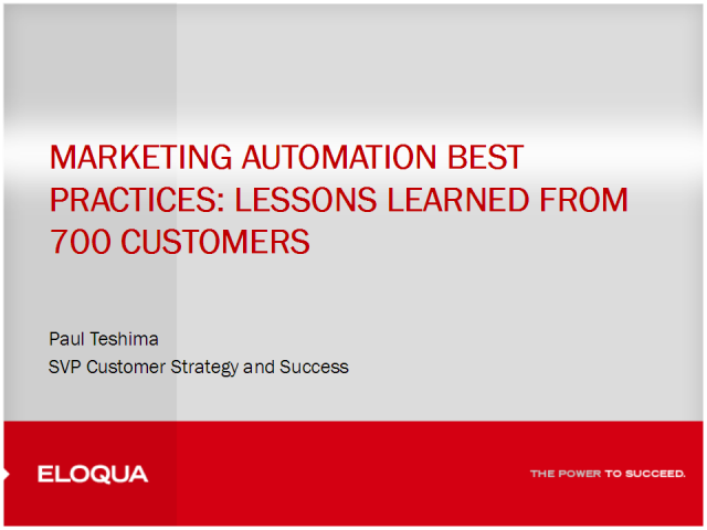 Marketing Automation Best Practices: Lessons from 700 Clients