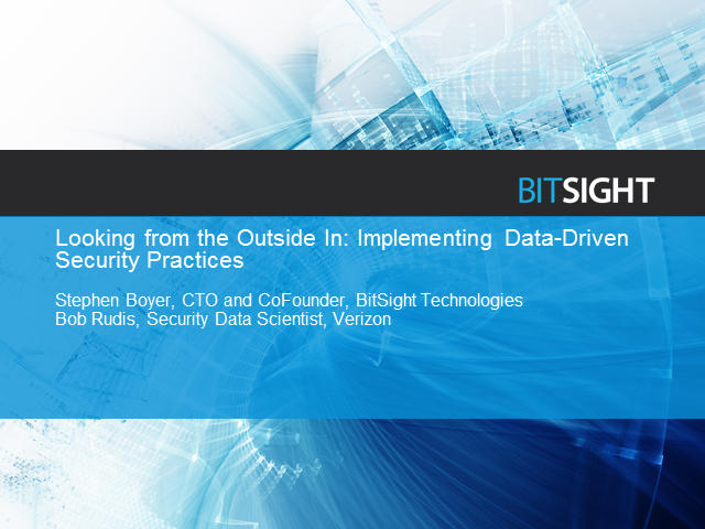 Looking from the Outside In: Implementing Data-Driven Security Practices