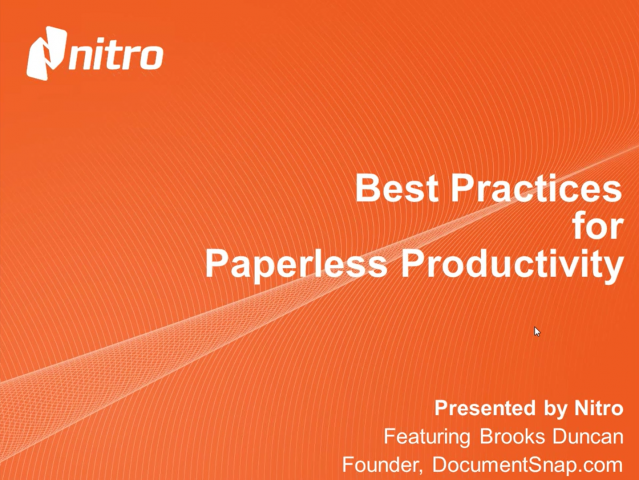 Best Practices for Paperless Productivity