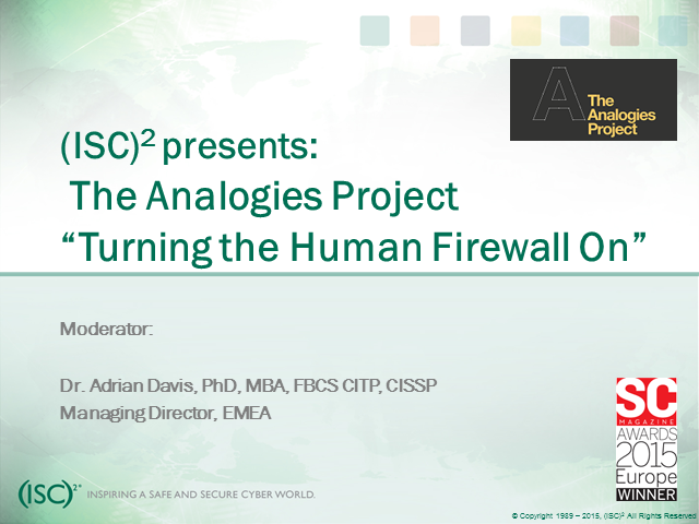 Turning the Human Firewall on