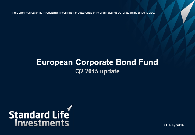 European Corporate Bond Fund Quarterly Update