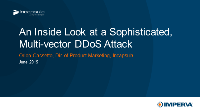 An Inside Look at a Sophisticated, Multi-vector DDoS Attack