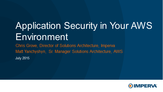 Extend enterprise application-level security to your AWS environment