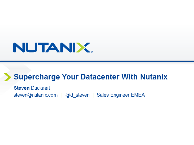 Supercharge your datacenter with hyper-converged infrastructure