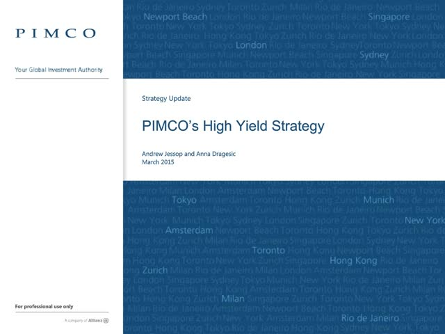 PIMCO High Yield Strategy update