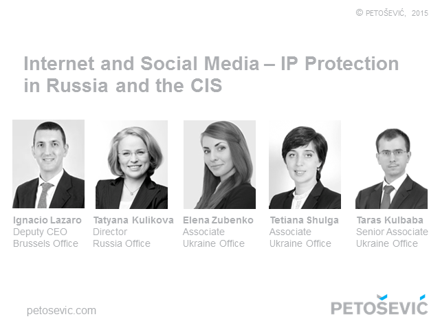 Internet and Social Media – IP Protection in Russia and Other CIS Countries
