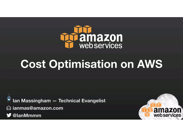Cost Optimisation on AWS