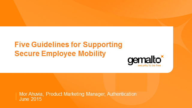 Five Guidelines for Supporting Secure Employee Mobility