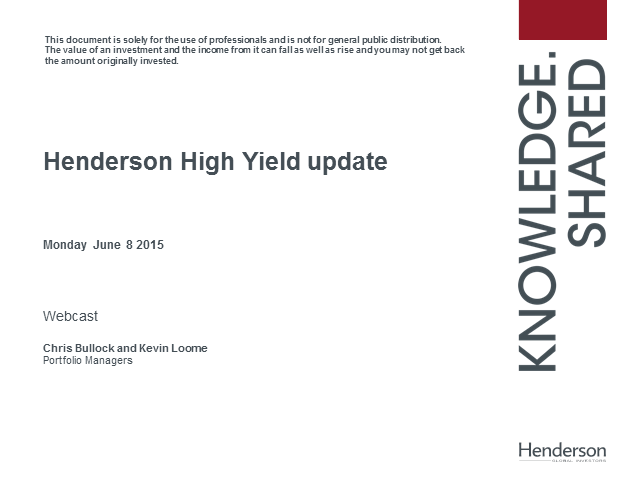 Can the good times last for high yield?