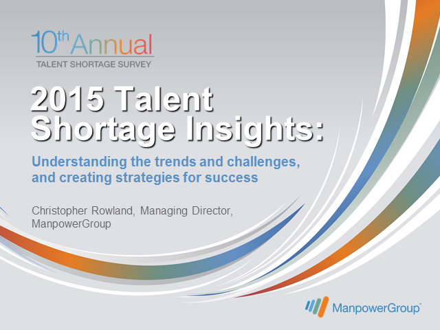 2015 Talent Shortage Insights