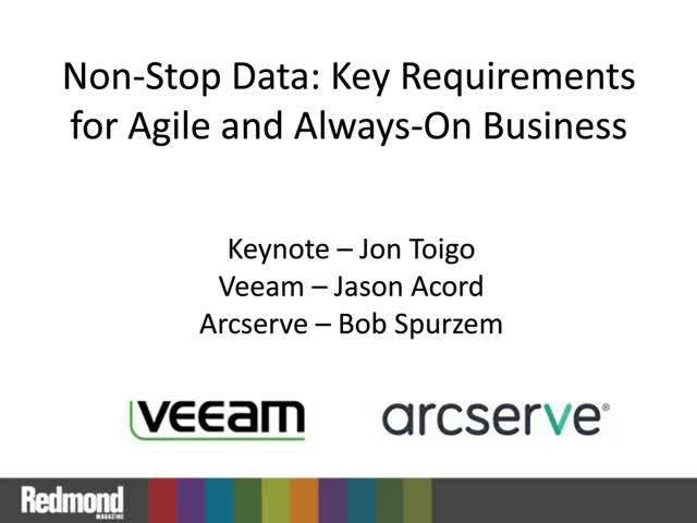 Non-Stop Data: Key Requirements for Agile and Always-On Business