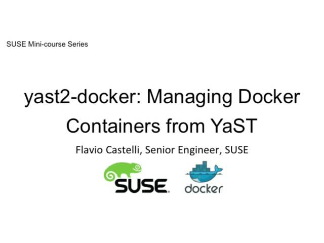 yast2-docker: managing Docker containers from YaST