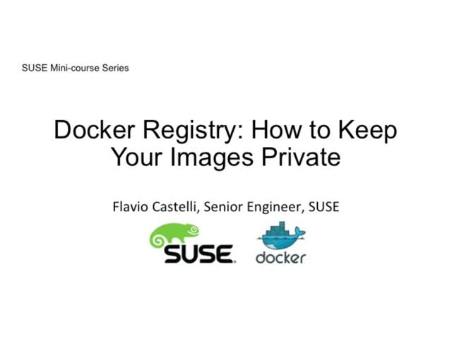 Docker registry: how to keep your images private