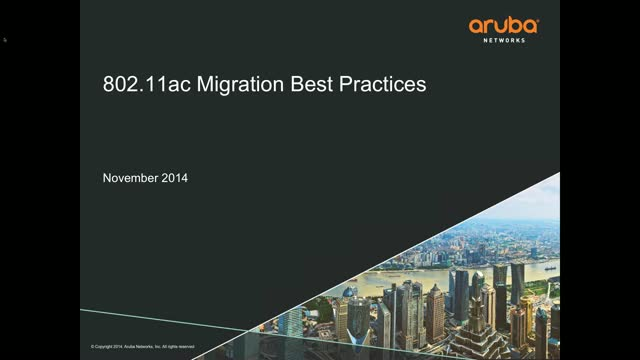 802.11ac Migration Best Practices