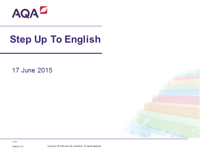 AQA ELC Step up to English: an introduction