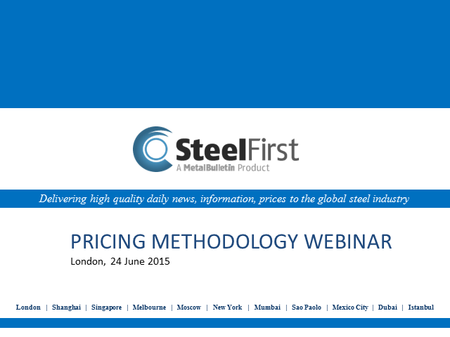 Steel First Pricing Methodology Explained