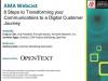 8 Steps to Transforming your Communications to a Digital Customer Journey