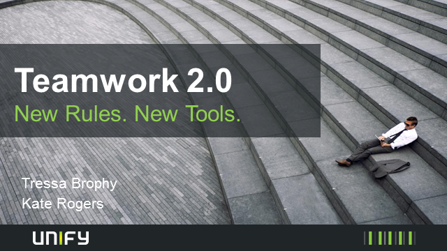 Teamwork 2.0 - New Rules. New Tools.
