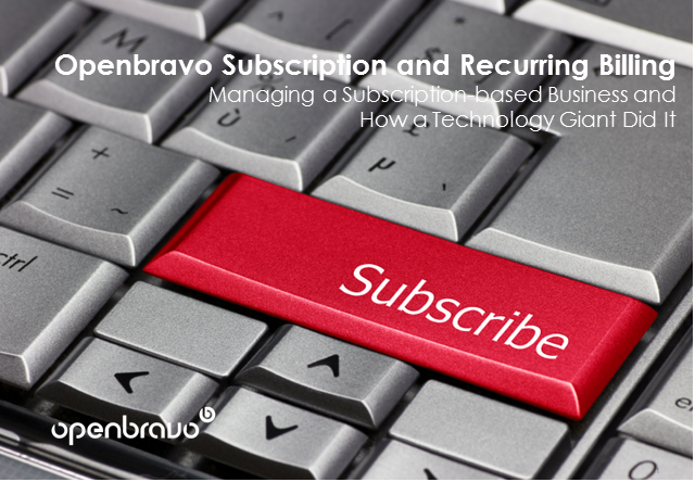 Managing a Subscription-based Business and How a Technology Giant Did It