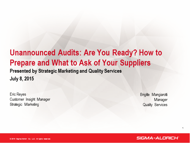Unannounced Audits: Are You Ready?
