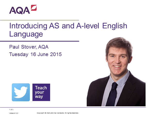 Introducing AS and A-level English Language