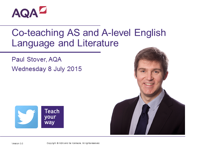 Co-teaching AS and A-level English Language and Literature