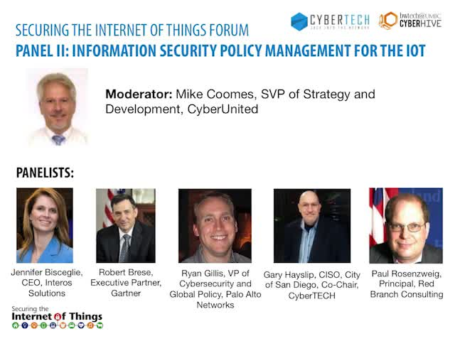 Panel: Information Security Policy Management for the IOT