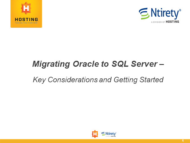 Migrating Oracle to SQL Server