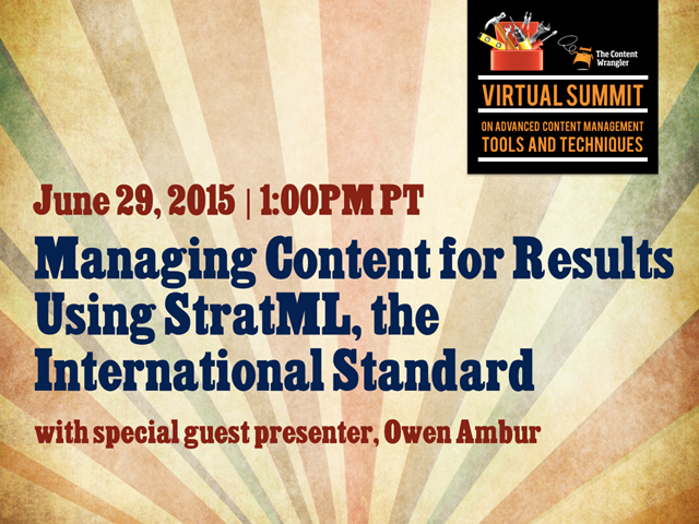 Managing Content for Results Using StratML, the International Standard