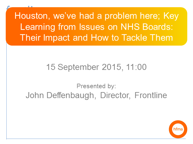 Key learning from issues on NHS boards: their impact, and how to tackle them